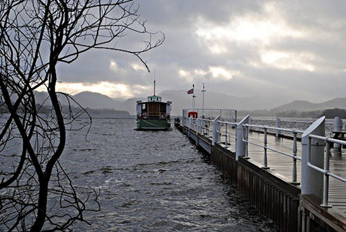 Winter Lake - Ullswater Landing Stage at Pooley Bridge on 1 January